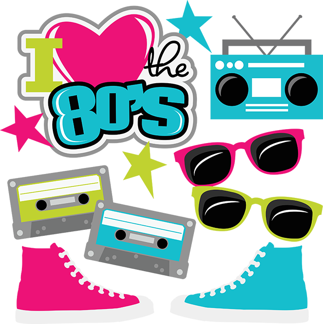 80 s dress up days clipart graphic free stock I Heart The 80\'s SVG cut files for scrapbooking 80\'s svg files ... graphic free stock