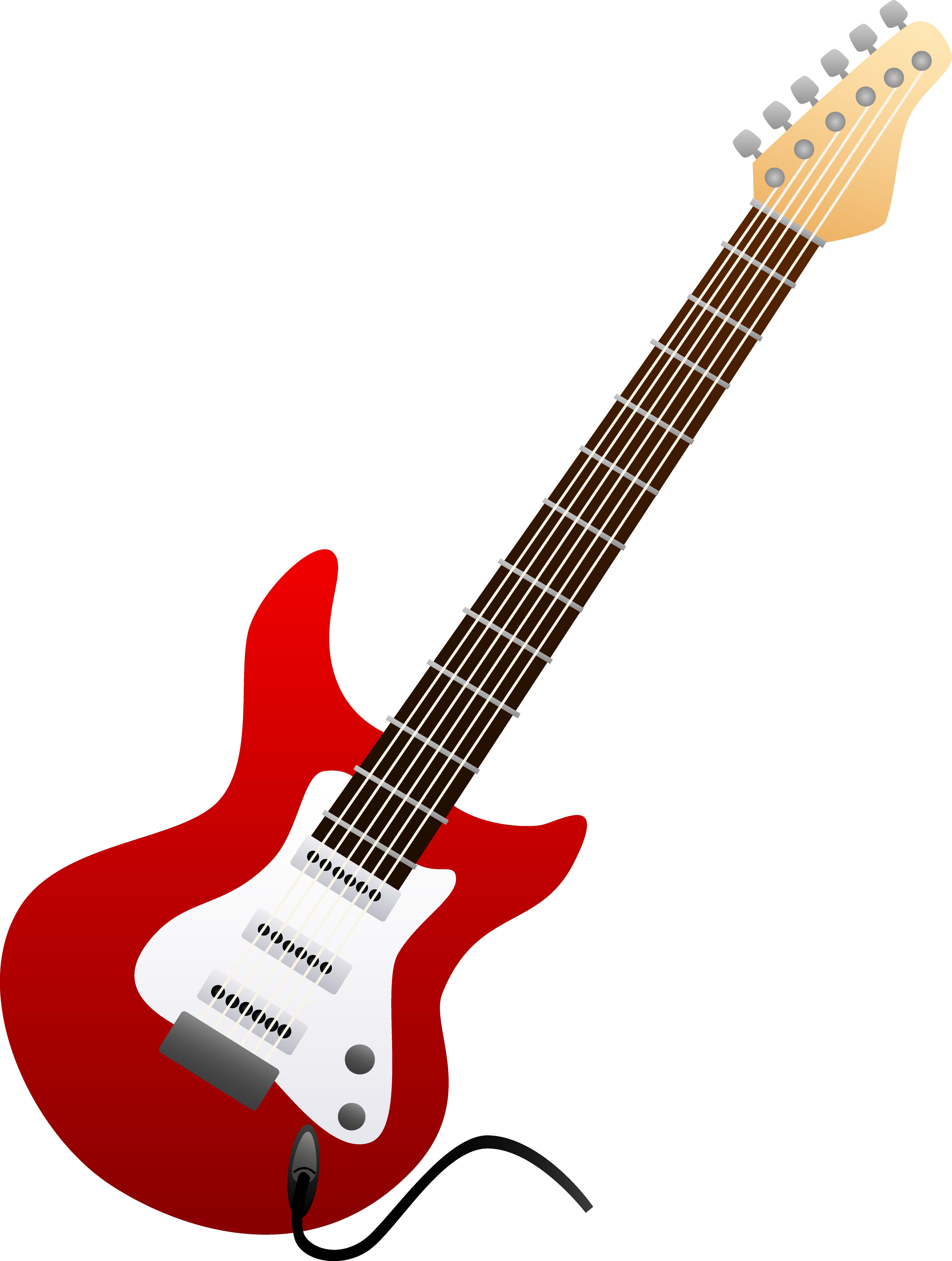 Rock guitar clipart free