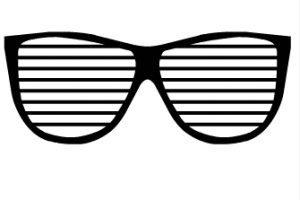80 s sunglasses clipart