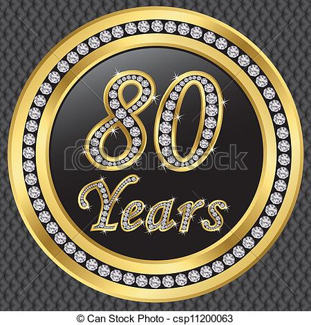 clipartfest years anniversary. 80 year old clipart
