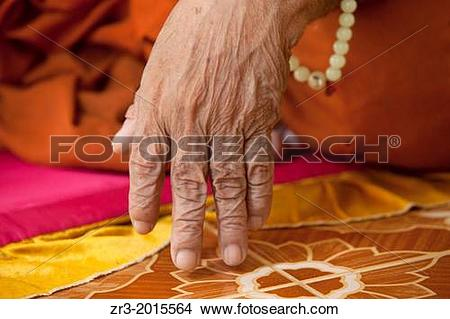 Stock Photo of Details of the hand of an 80-year-old blind monk ... clip art free download