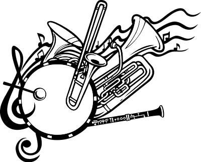 80s band instruments clipart svg library library Pin by Melissa Conner on Band Related Stuff | Marching band shirts ... svg library library