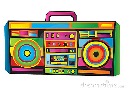 s kid vector. 80s boombox clipart