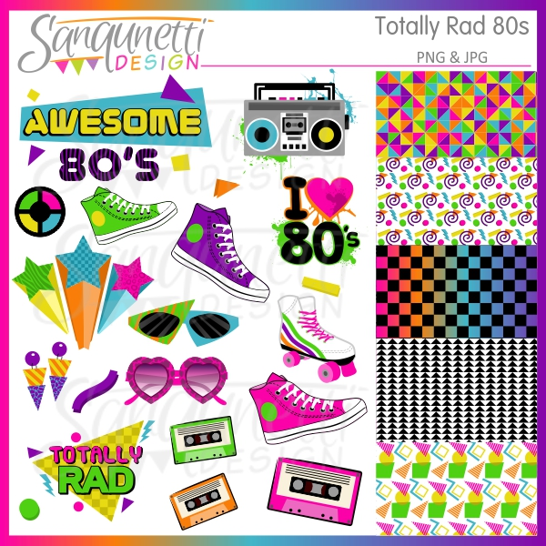 80s Clipart - Clipart Kid graphic freeuse library