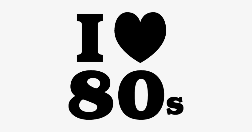 80s clipart black and white png black and white library I Love The 80s Wall Sticker - 80\'s Clip Art Black And White - Free ... png black and white library