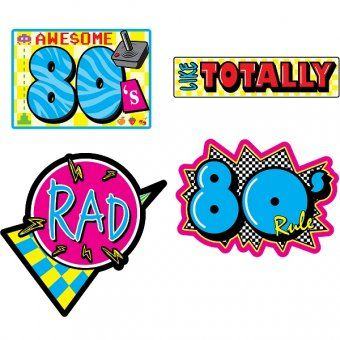 80s clipart images clipart library download Awesome 80's Cutouts - Pack of 4 - 80's Party Decoration Ideas ... clipart library download
