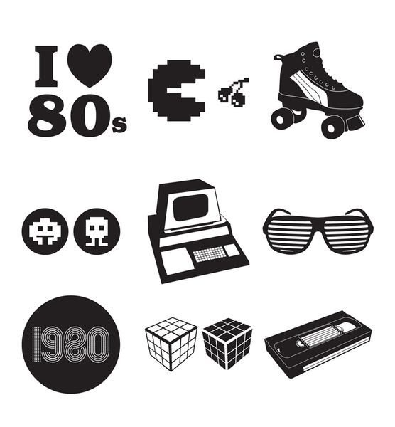 80s clipart images vector black and white library 80s vector images clipart - ClipartFest vector black and white library