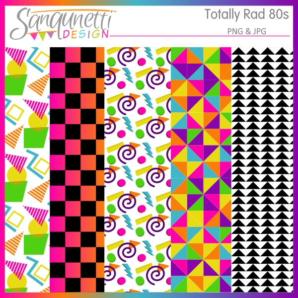 80s clipart images clipart stock Sanqunetti Design: Totally Rad 80s Clipart clipart stock