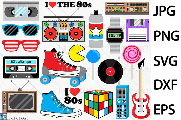 80s love clipart svg freeuse download I Love The 80s Designs - Clip art Cutting Files 98c svg freeuse download