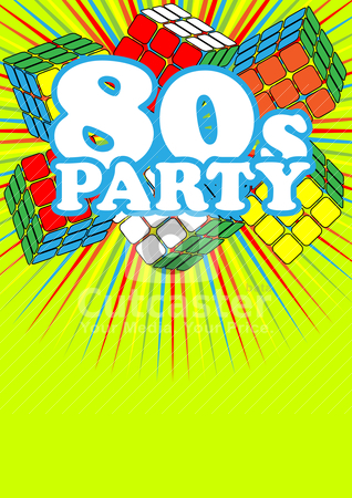 80s party invite clipart banner transparent download Retro Party Background stock vector banner transparent download