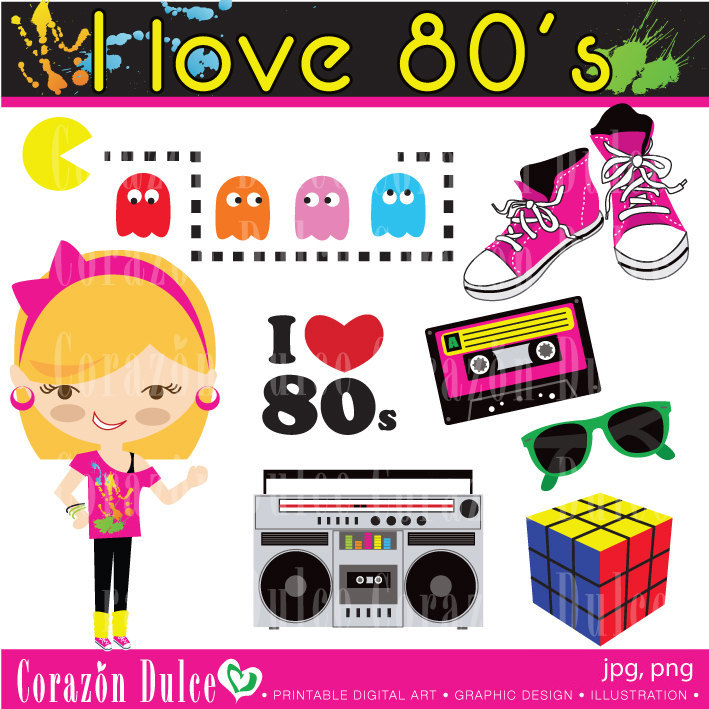 80s party invite clipart graphic black and white library Free 80s Cliparts, Download Free Clip Art, Free Clip Art on Clipart ... graphic black and white library