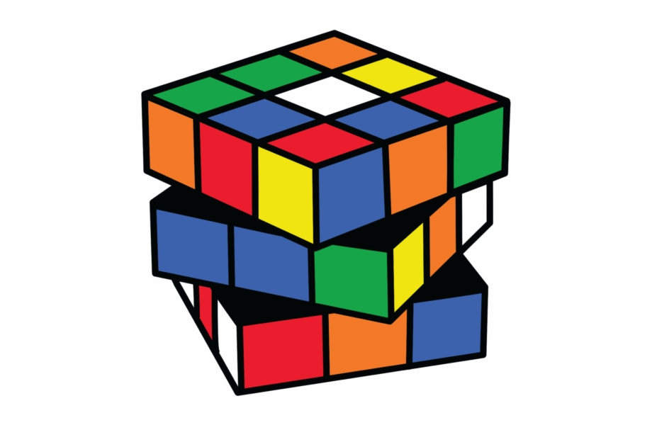 Rubix Cube Vector - Transparent Background Rubik\'s Cube Clipart ... vector library