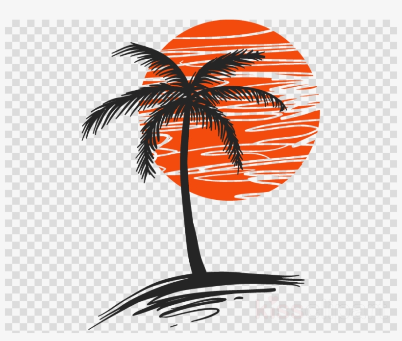 80s sun clipart banner royalty free download Palm Tree With Sun Clipart Palm Trees Clip Art - Palm Tree In The ... banner royalty free download