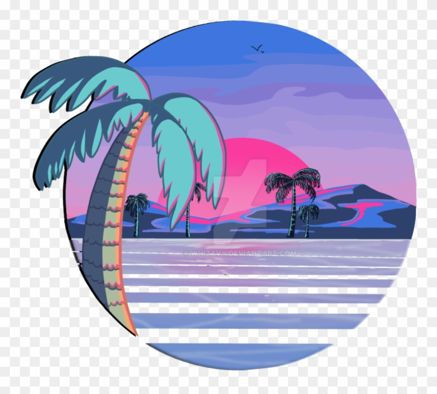 80s sun clipart jpg royalty free stock Png Freeuse Download 80s Vector Vaporwave - Beach Vaporwave Png ... jpg royalty free stock