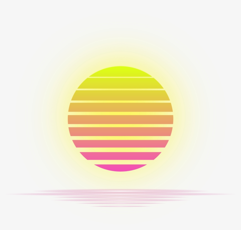 80s sun clipart image royalty free stock Vaporwave Sun Clipart - Vaporwave Sun No Background Transparent PNG ... image royalty free stock