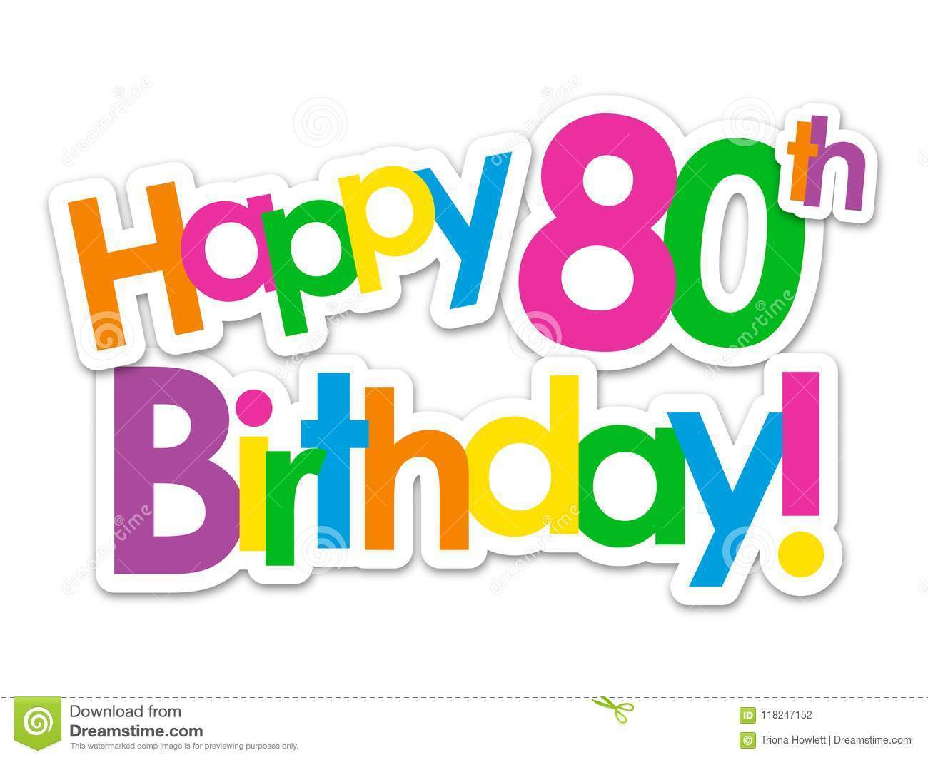 Clipart 80th birthday free 3 » Clipart Portal clipart black and white
