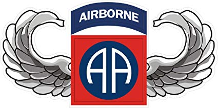 82 airborne patch clipart image transparent stock MilitaryBest US Army 82nd Airborne Jump Wings Decal Sticker 5.5\