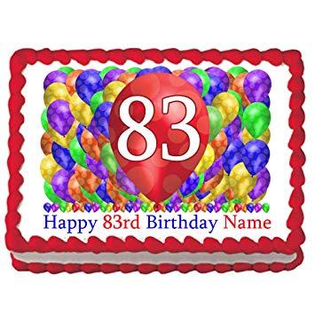 83rd birthday clipart jpg free download Amazon.com: 83RD Birthday Balloon Blast Edible Image (Each ... jpg free download