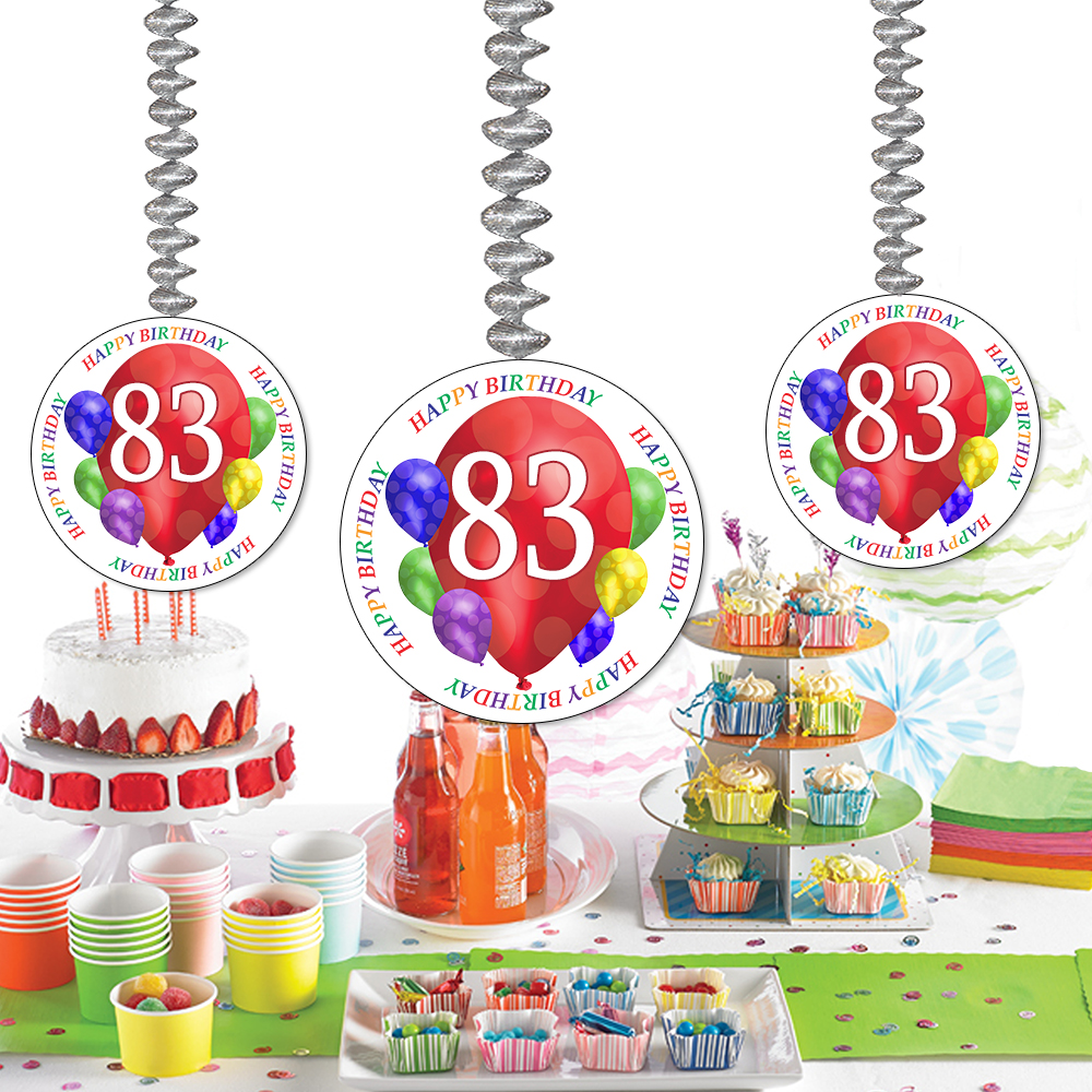 83rd birthday clipart stock 83 happy birthday party supplies - 83rd birthday balloon blast dangler stock