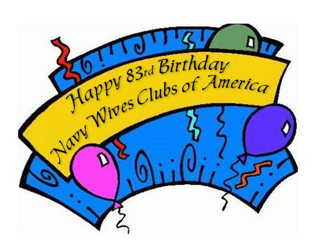 83rd birthday clipart clipart transparent NWCA 83rd Birthday, June 3, 2019. - Navy Wives Clubs of America clipart transparent