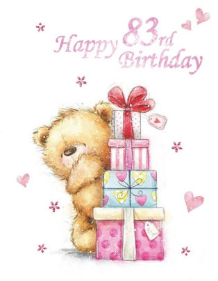 83rd birthday clipart png library Happy 83rd Birthday: Notebook, Journal, Dairy, 185 Lined Pages, Cute Teddy  Bear Themed Birthday Gifts for 83 Year Old Men or Women, Brother or Sister,  ... png library