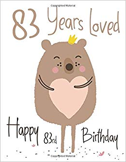 83rd birthday clipart clipart library download Happy 83rd Birthday: 83 Years Loved, Lovable Bear Designed Birthday ... clipart library download
