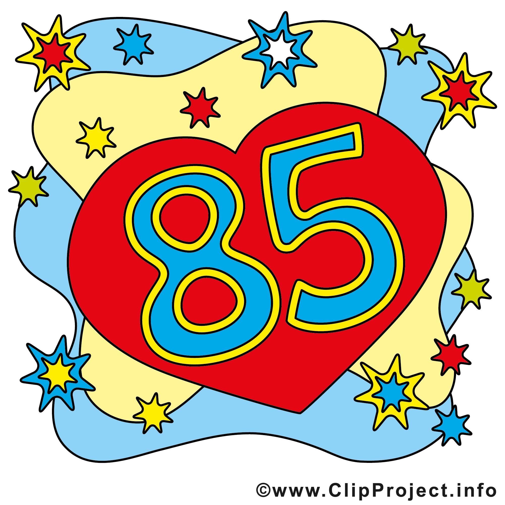 85 clipart banner royalty free 85 Geburtstagskarte gratis banner royalty free
