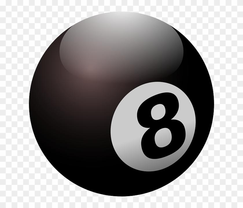 8ball clipart freeuse stock Billiard, Ball, Black Ball, Eight, Round, Black - 8ball Clipart, HD ... freeuse stock