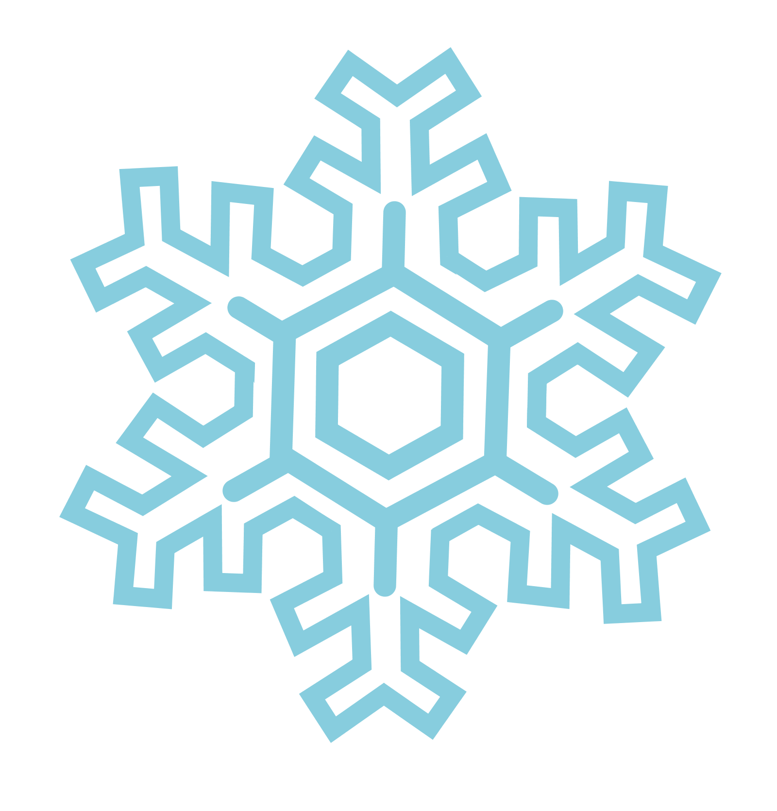 Fancy snowflake free clipart image black and white stock Snowflakes PNG images free download, snowflake PNG image black and white stock