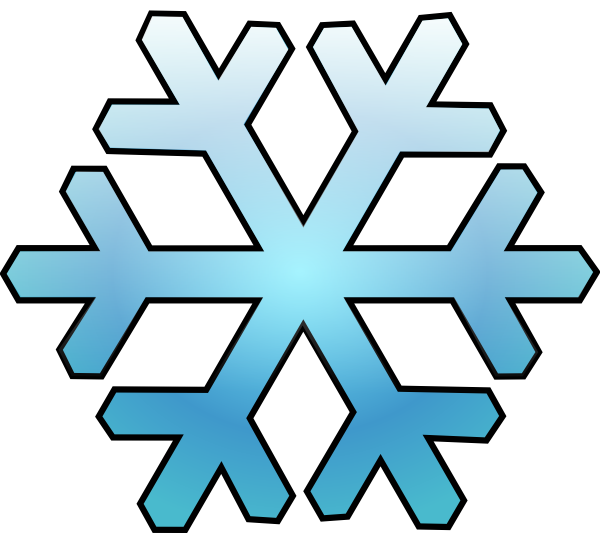 Snowflake with face clipart