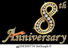 8th anniversary clipart banner royalty free stock 8Th Anniversary Clip Art - Royalty Free - GoGraph banner royalty free stock