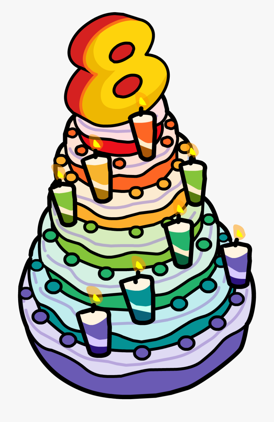 Anniversary Clipart 8th - 8th Birthday Cake Clipart, Cliparts ... png library library