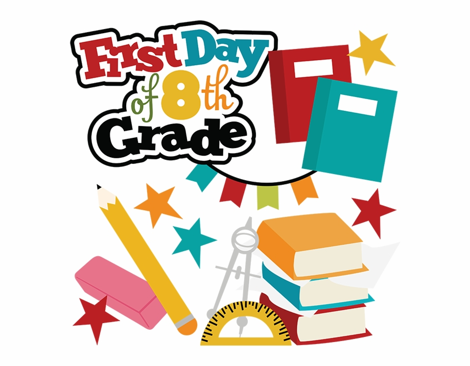 First Day Of 8th Grade Svg School Svg Files For Scrapbooking - First ... clip art royalty free stock