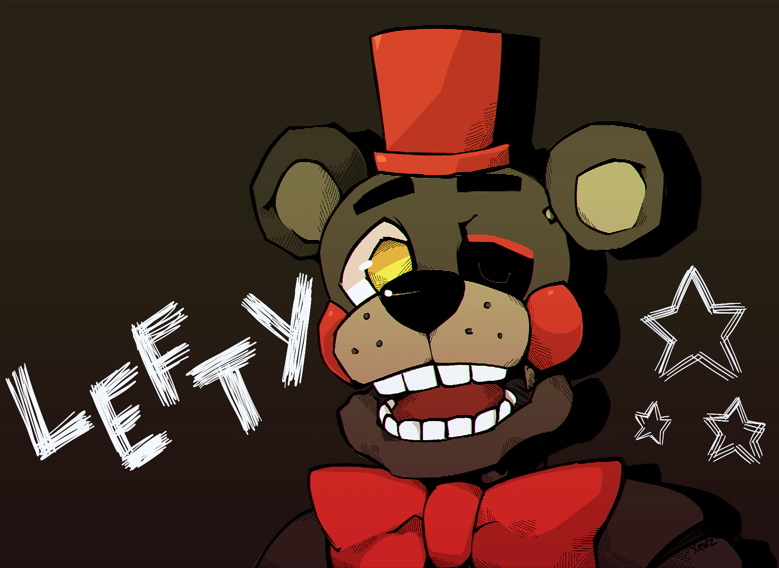 8th lefty clipart picture black and white LEFTY! [Original Content] : fivenightsatfreddys picture black and white