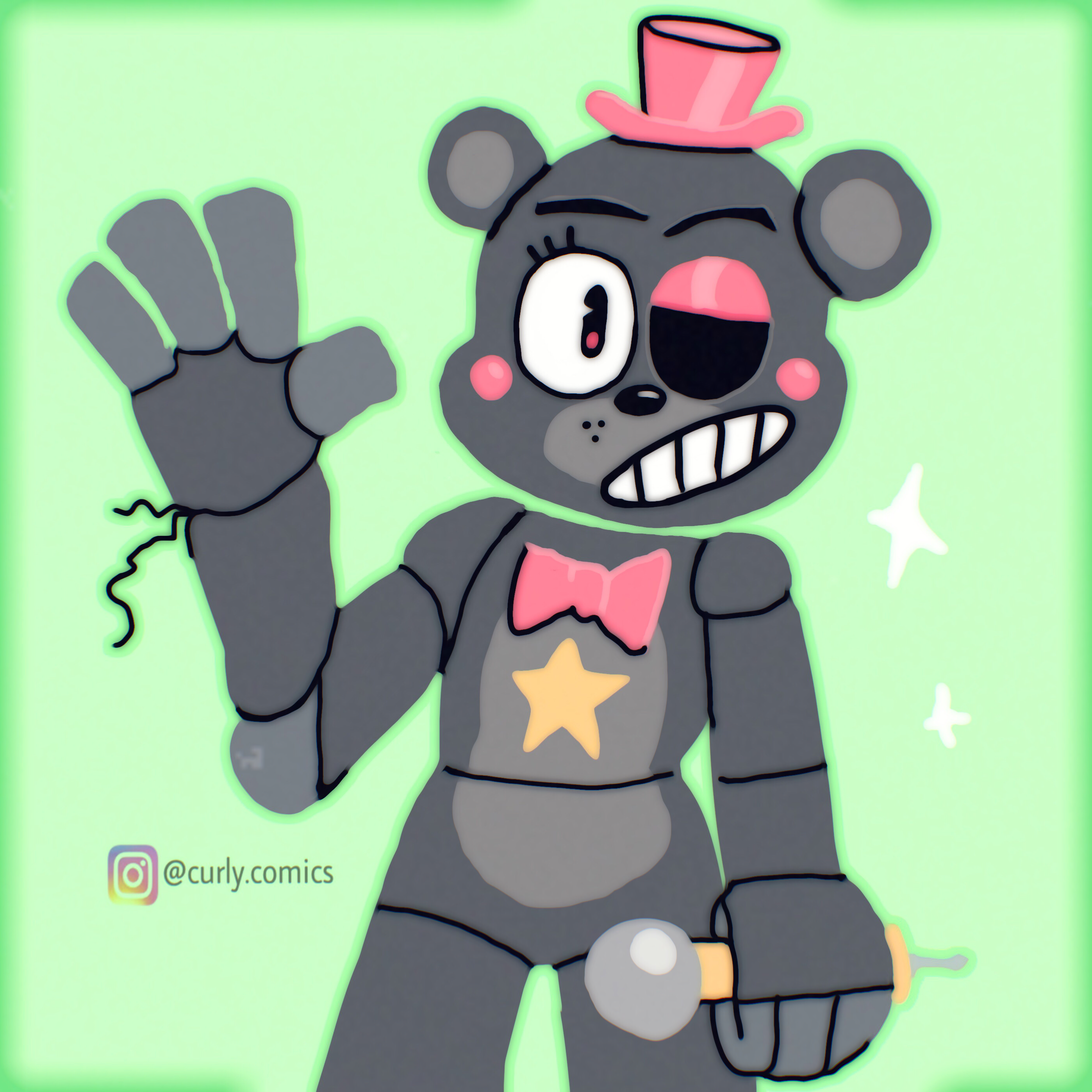 8th lefty clipart jpg download A snazzy and stylized Lefty! : fivenightsatfreddys jpg download