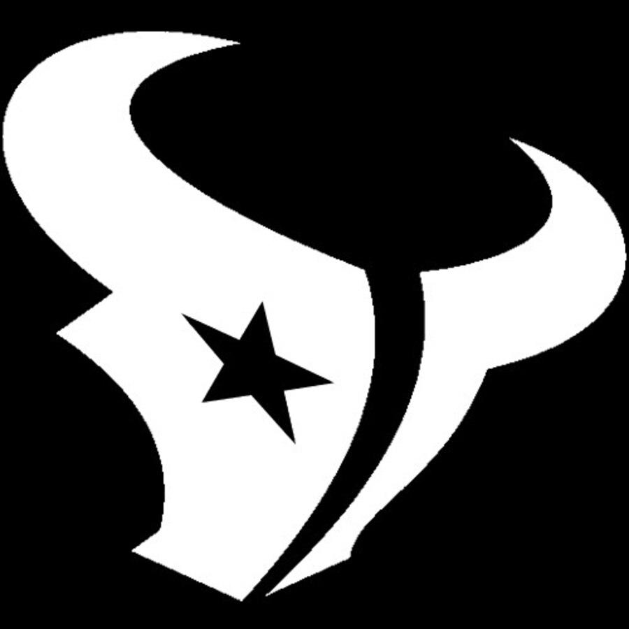 8x8 logo clipart clip art black and white Houston Texans 8x8 White Team Logo Decal clip art black and white
