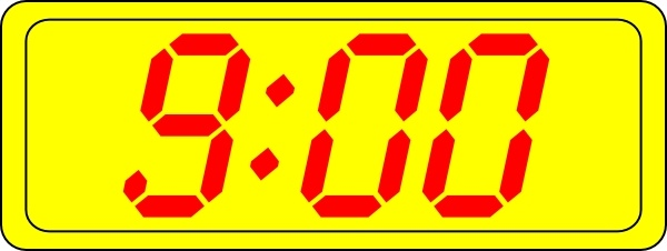 9 00 clipart vector library Digital Clock 9:00 clip art Free vector in Open office drawing svg ... vector library