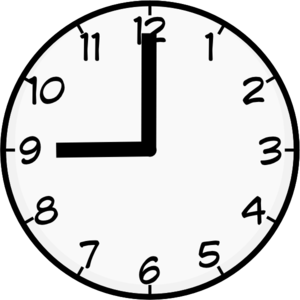 9 00 clipart image black and white library 9 Clock Cliparts - Cliparts Zone image black and white library