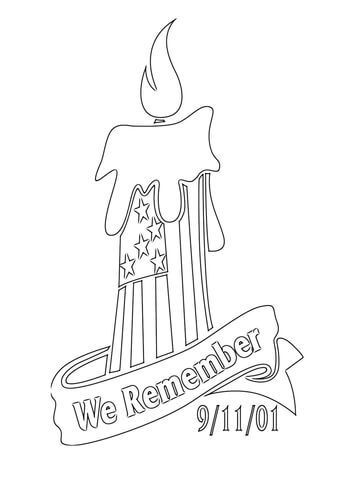 9 11 01 clipart png free stock We Remember 9-11-01 coloring page | Free Printable Coloring Pages png free stock