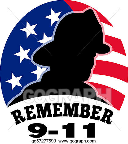 9 11 remember clipart clip library Stock Illustration - 9-11 fireman firefighter american . Clipart ... clip library