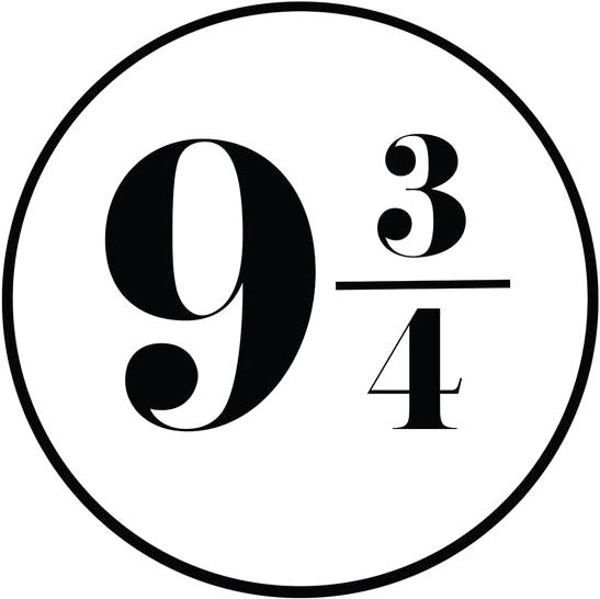 9 3 4 clipart clip free Platform 9 3/4 Font - forum | dafont.com | cricut in 2019 | Harry ... clip free