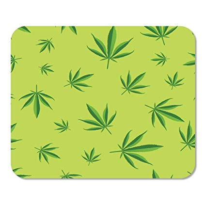 9 inch cannabis clipart banner black and white download Amazon.com : Suike Mousepad Computer Notepad Office Green Pattern ... banner black and white download