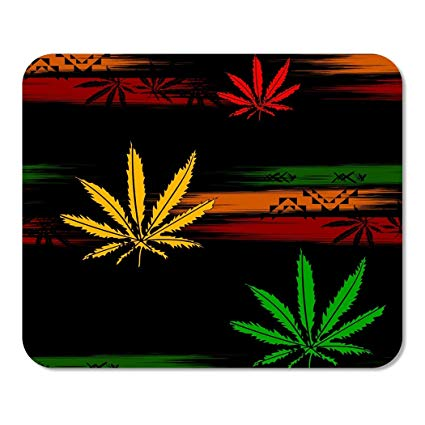 9 inch cannabis clipart graphic freeuse stock Amazon.com : Suike Mousepad Computer Notepad Office Green Rasta ... graphic freeuse stock