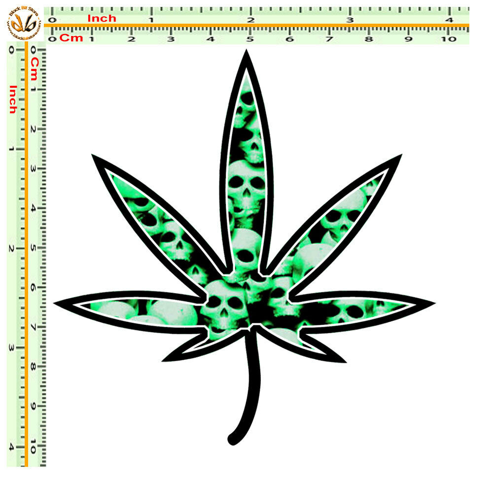 9 inch cannabis clipart banner freeuse download Adesivi auto casco moto sticker bomb cannabis skull green helmet tuning 1  pz. | eBay banner freeuse download