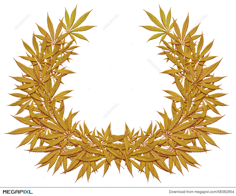 9 inch cannabis clipart png royalty free download Golden Wreath Of Cannabis Stock Photo 58382854 - Megapixl png royalty free download