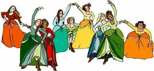 9 ladies dancing clipart cartoons image royalty free library 9 Ladies Dancing | Seasons, Holidays, and Times | Princess zelda ... image royalty free library