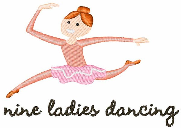 9 ladies dancing clipart 6 » Clipart Portal png free