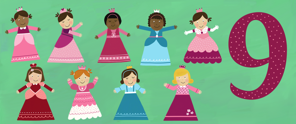 9 Ladies Dancing from 12 Days of Christmas | Our Apps for Kids | 12 ... clip art royalty free download