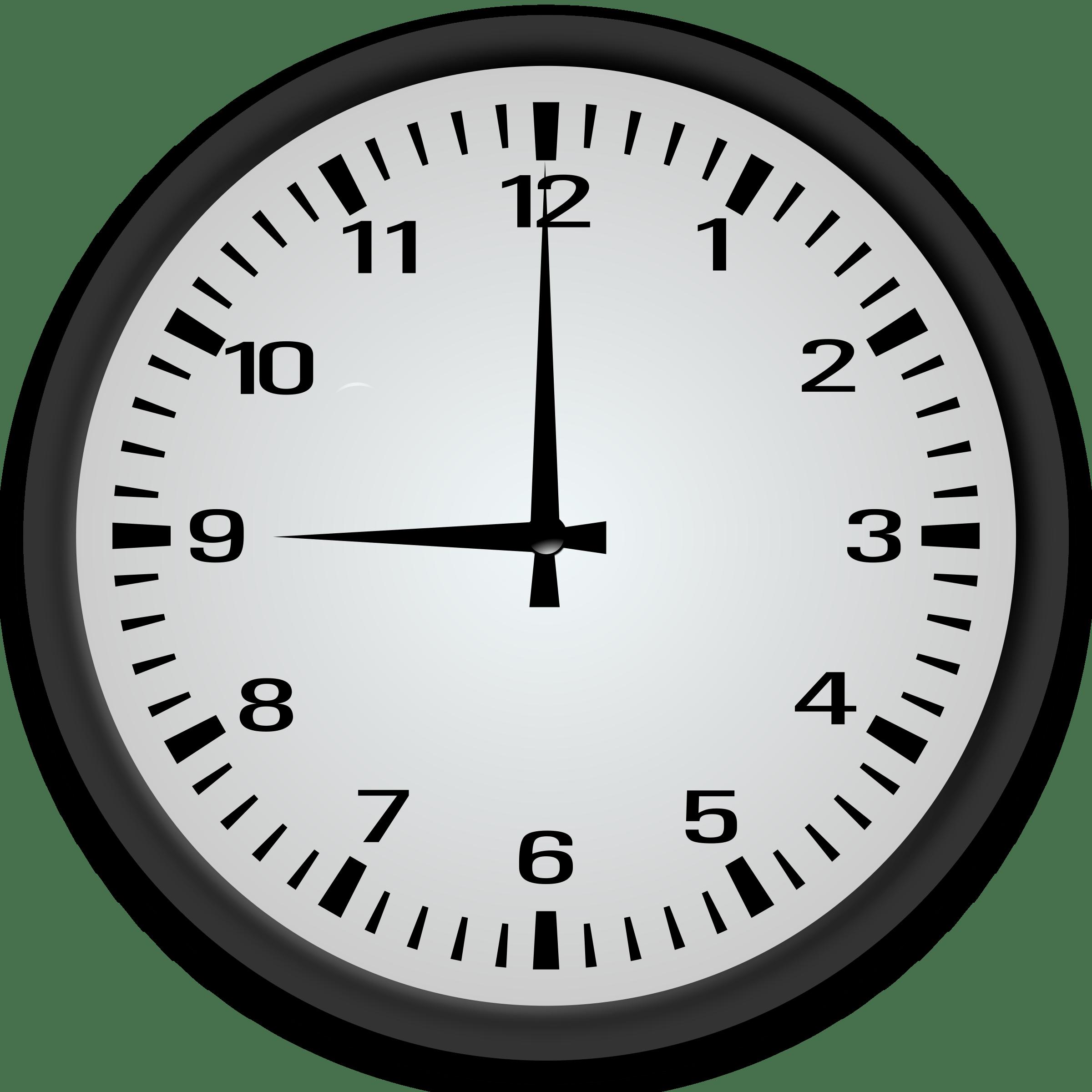 9 o\'clock clipart 2 » Clipart Portal jpg royalty free download