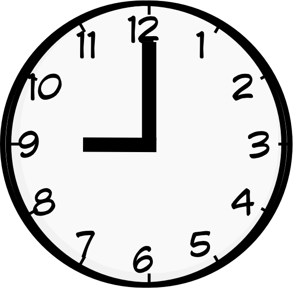 9 O Clock Clip Art at Clker.com - vector clip art online, royalty ... banner library stock